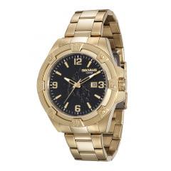 Relógio Seculus Masculino Dourado 20412GPSVDA1