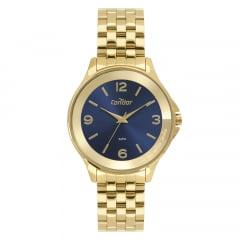 Relógio Condor Feminino Dourado Fundo AzulCO2035MSP/K4A