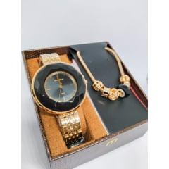 Kit Relógio Feminino  Mondaine + Pulseira 99054LPMVDE6K1