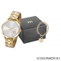 Kit Relógio Feminino Mondaine + Pulseira 32102LPMKDE1K1