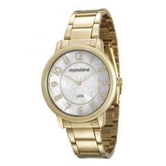 Relógio Mondaine Feminino Dourado 53534LPMVDE1