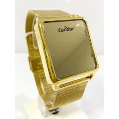Relógio Condor Digital Dourado COBJ3382AA/4D Espelhado