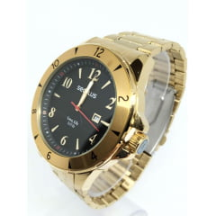 Relógio Seculus Banhado a Ouro 23651GPSVDA1K1