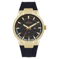 Relógio Technos Masculino Dourado Pulseira em Silicone