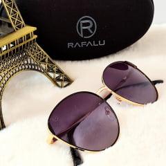 Óculos Solar Feminino Modelo Arredondado Rafalu 92509 C1