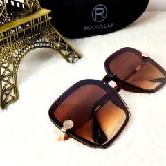 Óculos Solar Feminino Rafalu Quadrado H02376 C2 (avaria na lente)