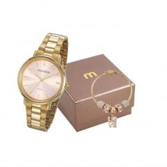 Kit Relógio Feminino Mondaine + Pulseira 53761LPMKDE1K1