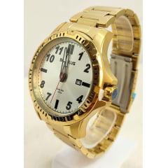 Relógio Masculino Dourado Seculus Long Life