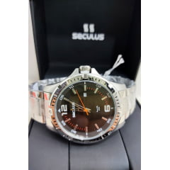 Relógio Seculus Maculino Prata