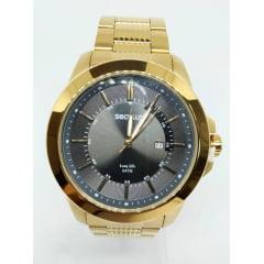 Relógio Banhado a ouro 2 anos de garantia Seculus
