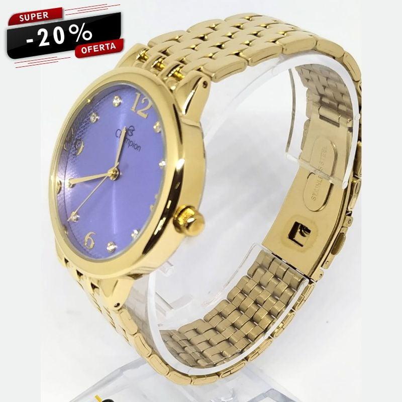 Relógio Champion Feminino Dourado CN28133D