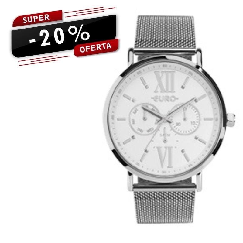 Relógio Euro Multifunção Prata EU6P29AHFBP/3K