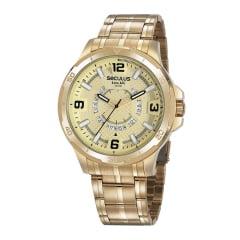 Relógio Masculino Dourado Seculus