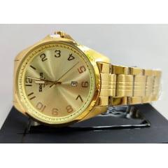 Relógio Seculus Masculino Dourado 20855GPSVDA1