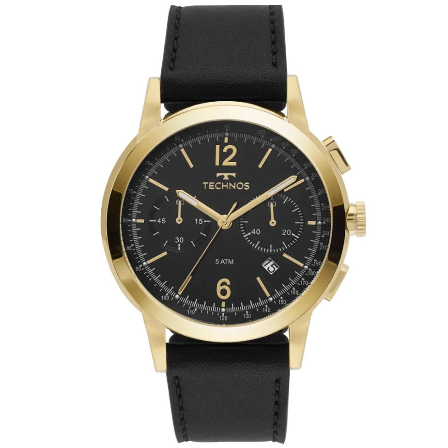 Relógio Technos Masculino de Couro - 6S21AC/0P