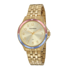 Kit Relógio Mondaine Feminino Dourado + Pulseira