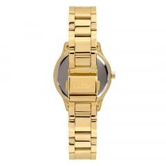 Kit Relógio Condor Feminino Dourado + Colar e Brinco CO2035FBY/K4B