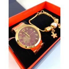Relógio Condor Feminino Dourado + Pulseira CO2036DB/K4R