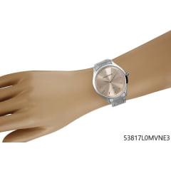 Relógio Mondaine Prata Lançamento fundo lilás