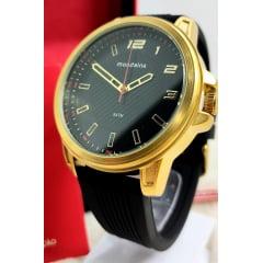Relógio Masculino Mondaine Esporte Fino Caixa Dourada