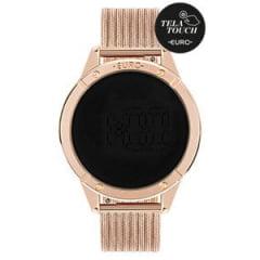 Relógio Euro Feminino Dourado Digital Rosê