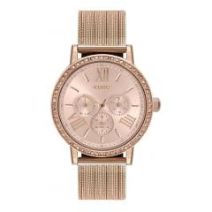 Relógio Euro Multifunção Feminino Rosê EU6P29AHM/4J