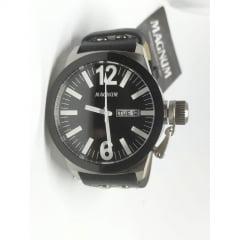 Relógio Magnum Couro + Pulseira Masculino MA31533C
