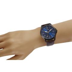 Relógio Masculino Pulseira de Couro Mondaine Cx Preta