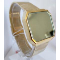 Relógio Mondaine Digital Quadrado Dourado 32121LPMVDE1