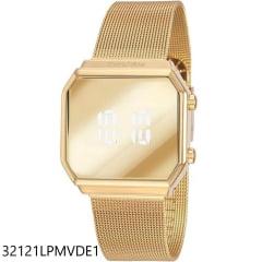 Relógio Mondaine Digital Quadrado Dourado