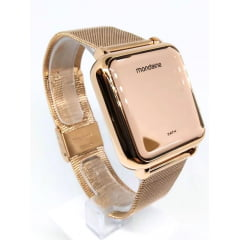 Relógio Mondaine Digital Quadrado Rosê 32008MPMVRE2