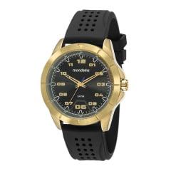 Relógio Pulseira de Silicone Mondaine Lançamento  Cx Dourada