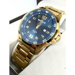 Relógio Seculus Dourado Masculino 20802GPSVDA2