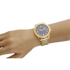 Relógio Seculus Masculino Dourado 23666GPSVDA1