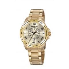Relógio Seculus Todo em Dourado