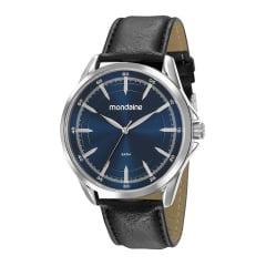 Relógio Social Couro Mondaine Fundo Azul