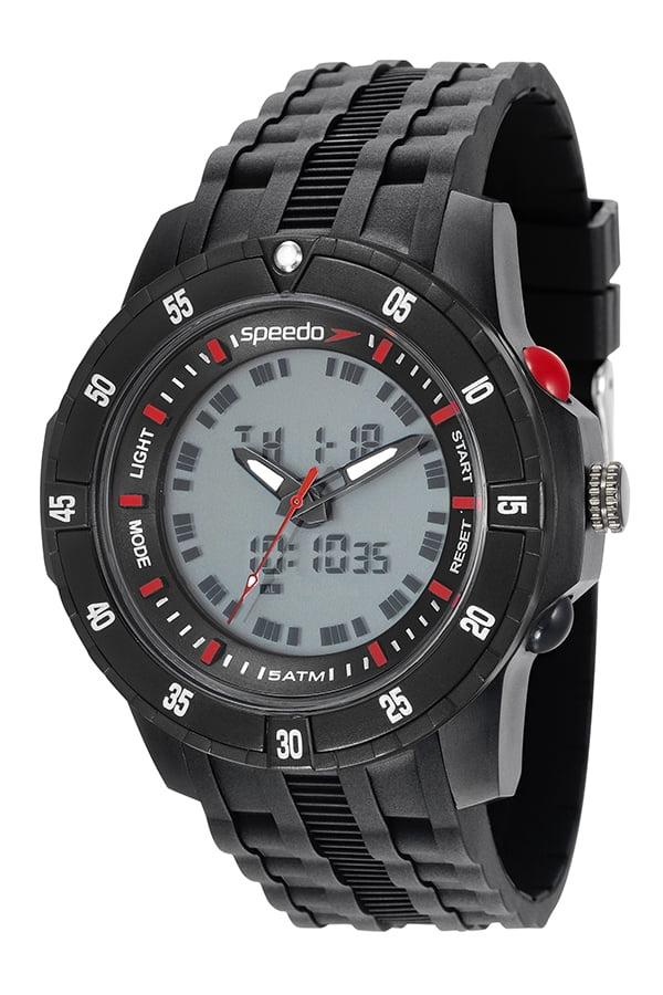 Relógio Speedo Masculino Esportivo Preto 81127G0EVNP5