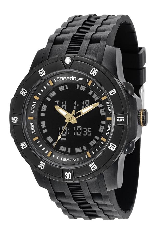 Relógio Speedo Masculino Esportivo Preto 81127G0EVNP6