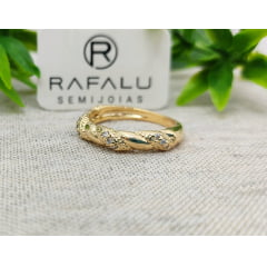 Anel Banhado a Ouro Rafalu  - AN0001I - 05 ANOS DE GARANTIA