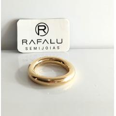 Anel Banhado a Ouro Rafalu  - AN0001J - 05 ANOS DE GARANTIA