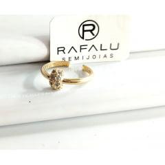 Anel Banhado a Ouro Rafalu  - AN0004F - 05 ANOS DE GARANTIA