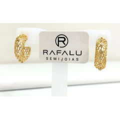Argola banhada a ouro Rafalu BR0003T1