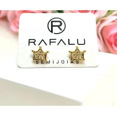 Brinco  Banhado a Ouro Rafalu  - 05 ANOS DE GARANTIA - BR0015L
