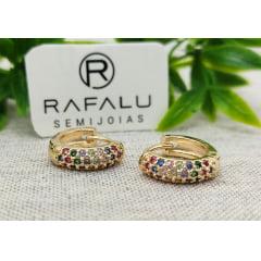 Brinco Banhado a Ouro Rafalu - BR0001H1 - 05 ANOS DE GARANTIA