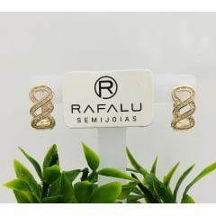 Brinco Banhado a Ouro Rafalu - BR0003K1 - 05 ANOS DE GARANTIA
