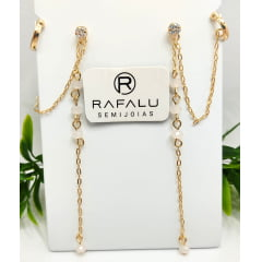 Brinco Banhado a Ouro Rafalu - BR0005D1 - 05 ANOS DE GARANTIA