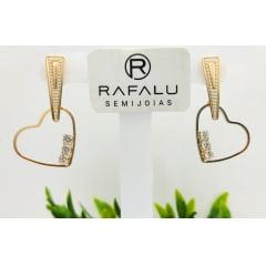 Brinco Banhado a Ouro Rafalu - BR0005R - 05 ANOS DE GARANTIA