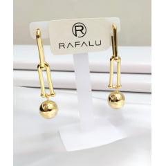 Brinco Banhado a Ouro Rafalu - BR0005X1 - 05 ANOS DE GARANTIA