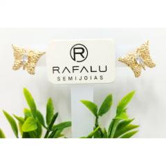 Brinco Borboleta Banhado a Ouro Rafalu BR0008L