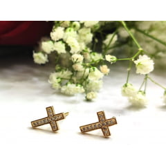 Brinco Crucifixo com Microzircônia - BR0001H